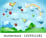 fantasy landscape with small... | Shutterstock .eps vector #1319311181