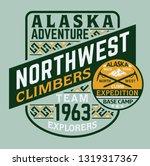alaska climber adventure... | Shutterstock .eps vector #1319317367