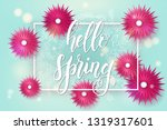 spring background with frame... | Shutterstock .eps vector #1319317601