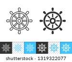 wheel black linear and...   Shutterstock .eps vector #1319322077