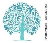 green money tree isolated on... | Shutterstock .eps vector #1319323451