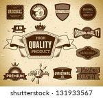 set of vintage labels on the... | Shutterstock .eps vector #131933567