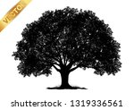 tree silhouette isolated on... | Shutterstock .eps vector #1319336561