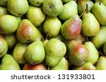 green pears at a famers market. | Shutterstock . vector #131933801