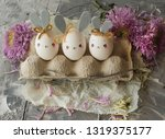 easter decoration for home ... | Shutterstock . vector #1319375177