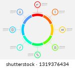 vector infographic template for ... | Shutterstock .eps vector #1319376434