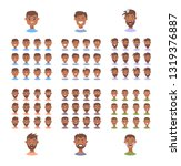 set of male emoji characters.... | Shutterstock .eps vector #1319376887