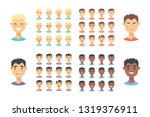 set of male emoji characters.... | Shutterstock .eps vector #1319376911