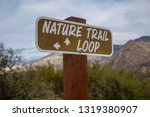 nature trail loop sign post... | Shutterstock . vector #1319380907