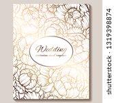 antique royal luxury wedding...   Shutterstock .eps vector #1319398874