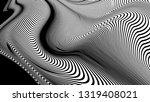 vector 3d striped waves....   Shutterstock .eps vector #1319408021