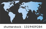 blue world map on dark gray... | Shutterstock .eps vector #1319409284