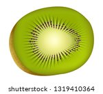 realistic kiwi fruit vector | Shutterstock .eps vector #1319410364