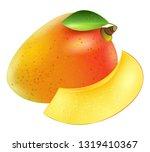 realistic mango fruit vector | Shutterstock .eps vector #1319410367