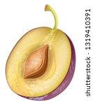realistic plum fruit vector | Shutterstock .eps vector #1319410391