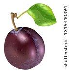 realistic plum fruit vector | Shutterstock .eps vector #1319410394