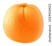 realistic orange fruit vector | Shutterstock .eps vector #1319410421
