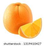 realistic orange fruit vector | Shutterstock .eps vector #1319410427