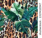 leopard seamless pattern. tiger ... | Shutterstock .eps vector #1319410547