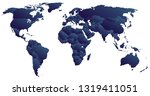 blue political world map | Shutterstock .eps vector #1319411051