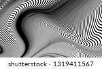 vector 3d striped waves.... | Shutterstock .eps vector #1319411567