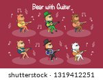 bear. funny bear musician with... | Shutterstock .eps vector #1319412251