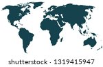 world map vector | Shutterstock .eps vector #1319415947