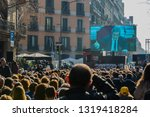 barcelona  catalonia spain ... | Shutterstock . vector #1319418284