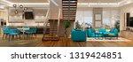 modern house interior. 3d...   Shutterstock . vector #1319424851