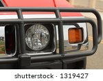 suv headlight with grill guard | Shutterstock . vector #1319427