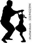 happy family. dancing... | Shutterstock .eps vector #1319432594