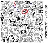 business   doodles set | Shutterstock .eps vector #131943305