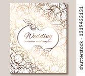 antique royal luxury wedding...   Shutterstock .eps vector #1319433131