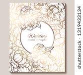 antique royal luxury wedding...   Shutterstock .eps vector #1319433134