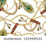 seamless baroque vector pattern ...   Shutterstock .eps vector #1319439221