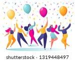 group of happy  joyful people...   Shutterstock .eps vector #1319448497