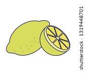 lemon citric fruit blue lines | Shutterstock .eps vector #1319448701