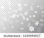 snow flakes falling macro... | Shutterstock .eps vector #1319454017