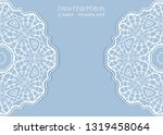 invitation or card template...   Shutterstock .eps vector #1319458064