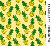 cartoon doodle pineapple... | Shutterstock .eps vector #1319459951