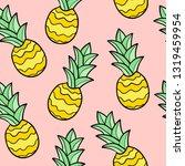 cartoon doodle pineapple... | Shutterstock .eps vector #1319459954