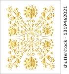 golden ornamental pattern.... | Shutterstock .eps vector #1319462021