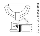 sport trophy cup with tickets...   Shutterstock .eps vector #1319465954