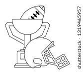 american football sport game...   Shutterstock .eps vector #1319465957