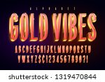 golden 3d red glossy font  gold ... | Shutterstock .eps vector #1319470844