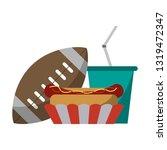 american football sport game   Shutterstock .eps vector #1319472347