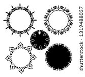set of vector vintage frames on ...   Shutterstock .eps vector #1319488037