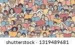 seamless banner of children... | Shutterstock .eps vector #1319489681