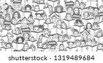 seamless banner of children... | Shutterstock .eps vector #1319489684