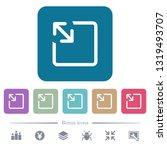 resize object white flat icons...   Shutterstock .eps vector #1319493707